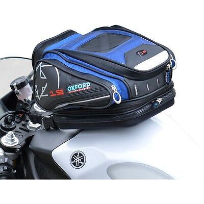 Oxford X15 Quick Release Motorcycle Tankbag - Blue