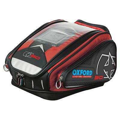 Oxford X30 Quick Release Motorcycle Tankbag - Red