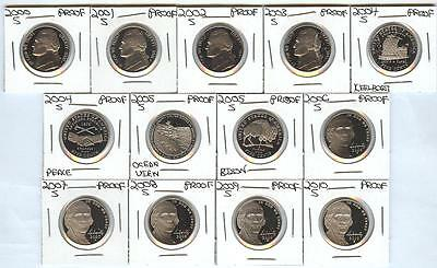 SET of 13 Gem Cameo 2000's PROOF Nickels 2000-2010