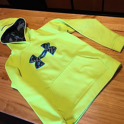 Under Armour Boys Hoodie Storm 1 Youth Med Fluorescent Yellow