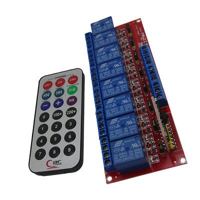 12V 8 Channel IR Infrared wireless Remote Control Switch Relay Module Board