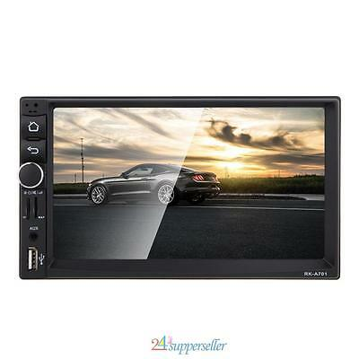 """7"""" Double 2Din HD Car MP3 MP5 Radio Player Quad Core Bluetooth GPS Android 4.4"""