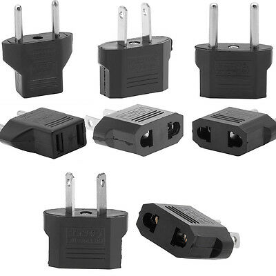 Black Universal Multi-type Power Converter Travel Adapter Charger Wall Plug Home