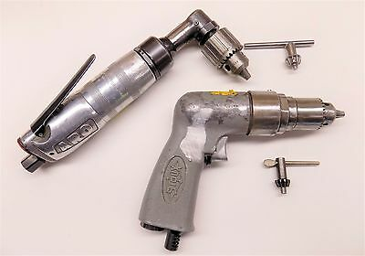"ARO 90 Degree Chucked Angle Drill & Sioux 1/4"" Pistol Grip Drill Aircraft Tools"