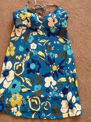 Blue Flowered Maternity Swim Dress Size Medium By Liz Lange