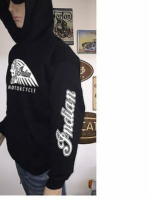 INDIAN CHIEF CLASSIC SLEEVE PRINT HOODIE see both photos