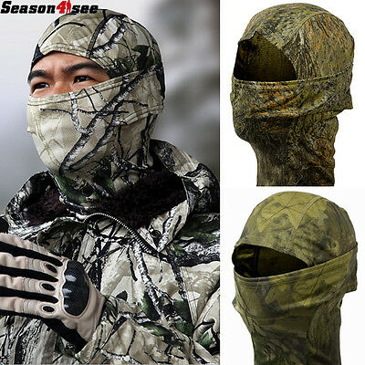Tactical Camo Full Face Mask Quick-Dry Hood Outdoor Scarf Balaclava Camo Cap Hat
