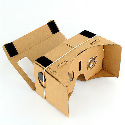 DIY Virtual Reality 3D VR Cardboard Glasses Google for iPhone iOS Android Phone