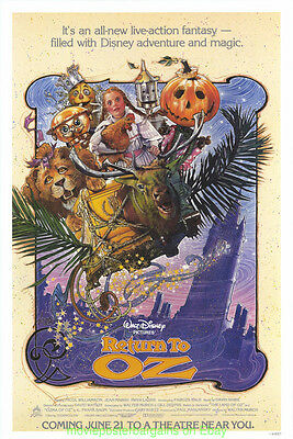 RETURN TO OZ MOVIE POSTER DREW STRUZAN Artwork 1985 Rolled  ORIGINAL One Sheet !