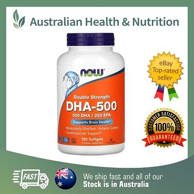 Now Foods Dha 500 Double Strength - High Potency & Purity + Free Sample