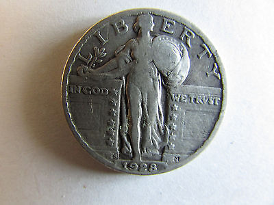 1928 S Standing Liberty Quarter - Circulated
