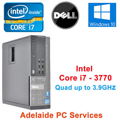 Dell Optiplex 9010 SFF Intel Core i7 3770 8GB Ram 128GB SSD Win 10 Pro Desktop