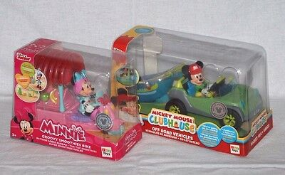Mickey Mouse Clubhouse Off Road Vehicles Set & Minnie Groovy Smoothies Bike BNIB