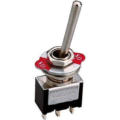 Zip Switch Toggle Switch DPST On-On 250V AC 3A