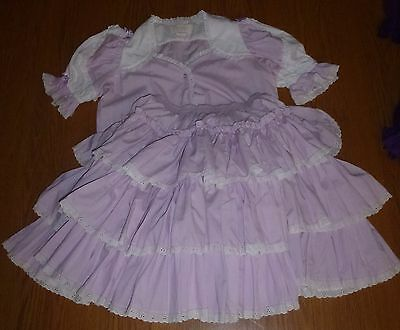 Square Dance Skirt & Top in Lavender - Size M