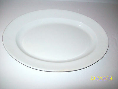 Antique Royal Premium Ironstone  T & R Boote White 16 In Platter