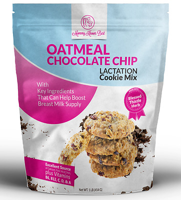 Oatmeal Chocolate Chip Lactation Cookies Mix With Blessed Thistle for Breastfeed