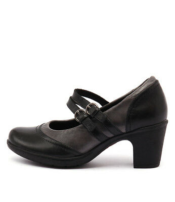 New Planet Bernie Pl Black Grey Womens Shoes Casual Shoes Heeled