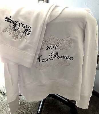 Personalized Bridal Bride Mrs.Soon to be Hoodie Sweatshirt Pants set Honeymoon