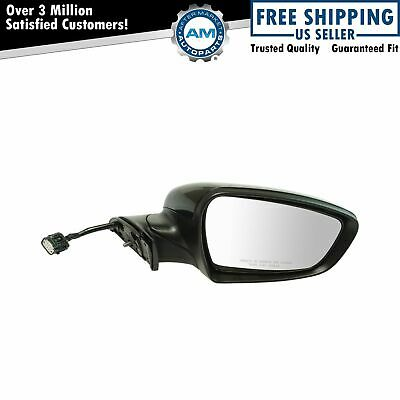 Exterior Power Mirror Heated Signal Black Smooth Passenger Side for Kia New