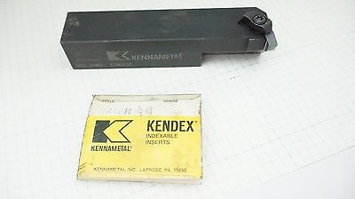 """Kennametal NEL 204D Lathe Insert Holder 1.25"""" Square Shank With 3 Inserts"""