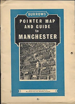 Burrows Pointer Map & Guide to Manchester - 1961