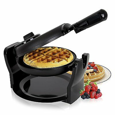 Duronic WM11 /BK 1100W Black Rotating Delicious Fresh Evenly Cooked Belgian /