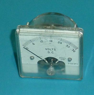 Hoyt 0-36 VDC Panel Meter, All clear body