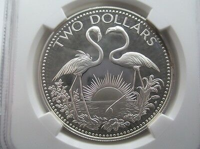 1977 FM Bahamas $2 Silver Proof NGC PF67 Ultra Cameo - Top Pop!