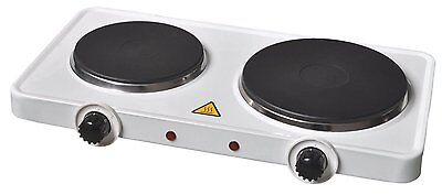 Slamtech® Twin Dual 2500W Electrical Double Hot Plate Portable Table Top Cooker