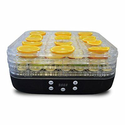 Jack Stonehouse Food Dehydrator - 5 Tier Deluxe Digital Temperature Control With