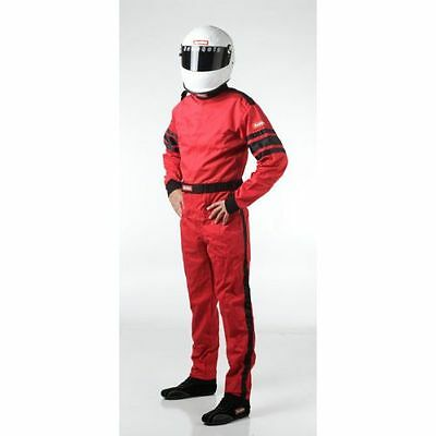 Racequip 110016 SFI-1 Single Layer One Piece Type Driving Suit Red X-Large