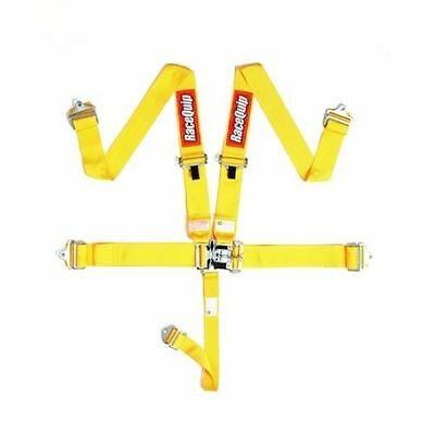 Racequip 711031 5 Point Latch & Link Style Racing Seat Belt Harness Yellow