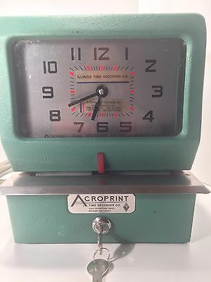 Acroprint 150QR4 Heavy Duty Manual Time Recorder Time Clock