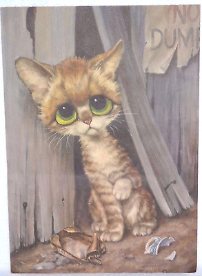 GIG-Pity Kitty-BIG EYED CAT-Posters-From the 1960's-