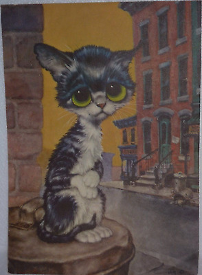 "GIG-Pity Kitty-BIG EYED CAT-Posters-From the 1960's-""CLEO"""