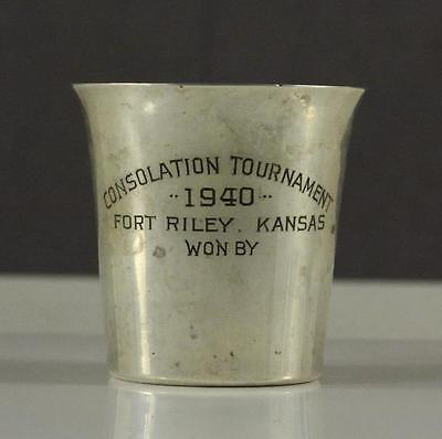 VINTAGE Frank Smith Sterling Silver Cup Consolation Tournament Fort Riley 1940