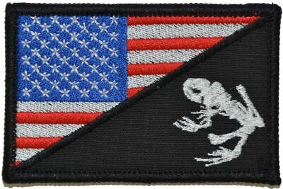 Navy Seal Frog USA Flag 2.25x3.5 Military/Morale Patch Hook Backing US Navy