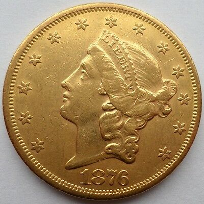 1876 S  -  $20  Liberty  Gold  Double  Eagle  Coin