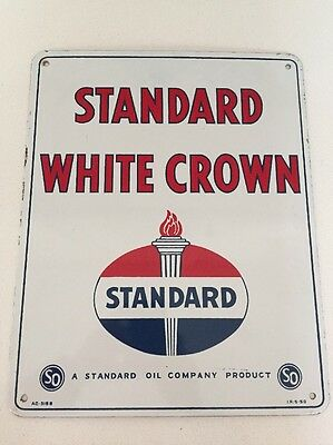 'Standard Oil White Crown' Sign - Dated 1950