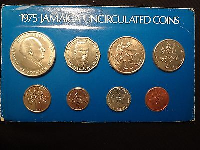 Jamaica 1975 Set of 8 Coins - 1 Cent to 1 Dollar