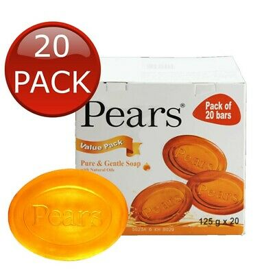 20 x 125g Pears Amber Transparent Soap