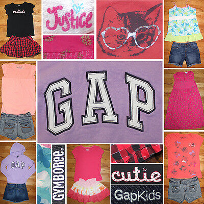 Girls Size 8/10 Spring/Summer Clothes Lot, Shorts, Tops, Justice, Gap++