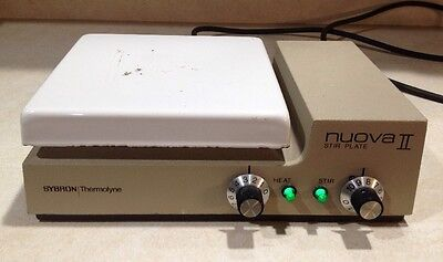 "Sybron Thermolyne Nuova II Hot Plate Stirrer SP18425  7"" x 7"" 120V Used"