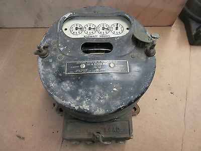 antique 1917 westinghouse watthour meter type OA 5 amp working steampunk rare
