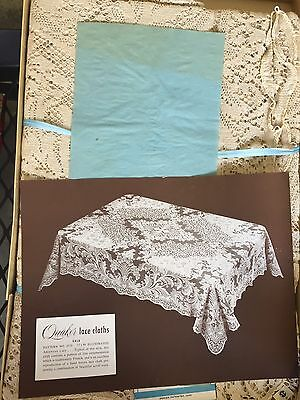 ANTIQUE LARGE QUAKER LACE TABLECLOTH NEW IN tHE BOX