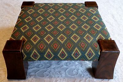 STICKLEY MISSION OAK MONK FOOTSTOOL Low Profile Square Stool VINTAGE #302