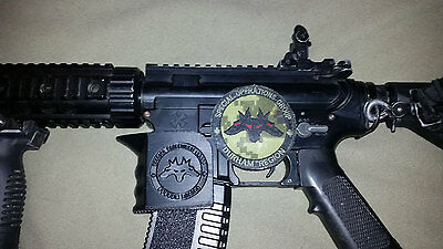 M4/AR15 Magwell Grip With Customizeable Logo [3D Printed]