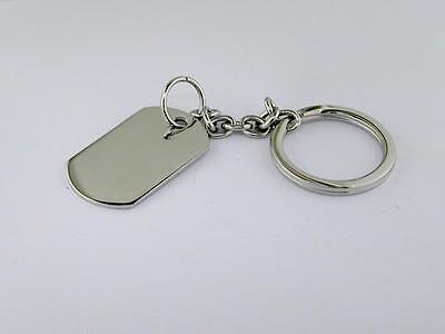 Small Dog Tag Key Chain Stainless Steel
