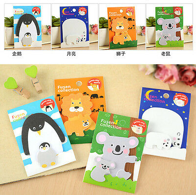 Cartoon Animals Sticker Post-It Bookmark Point It Marker Memo Flags Sticky Notes